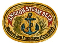 Old USA beer label Anchor Steam Brewery